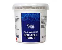 Краска гуашевая белила титановые 500 мл Rosa Studio, 3250901