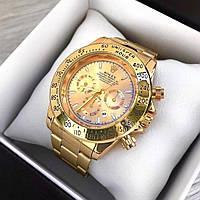 Мужские металлические часы Rolex Daytona, Ролекс, золотий чоловічий годинник