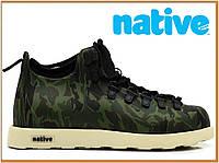Зимние термо ботинки Native Fitzsimmons Haki White (нейтив фитцсиммонс, камуфляж) термоносок