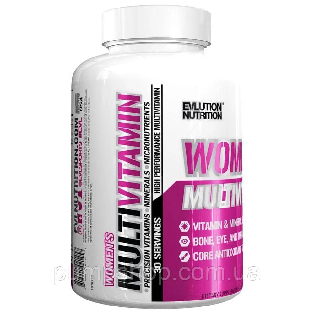 Витамины для женщин Evlution Nutrition Women's MultiVitamin 60 таб.(лучше Opti-Women)