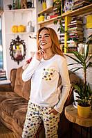 Фланелевая пижама с кофтой Котики L, фото 1