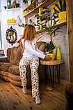 Фланелевая пижама с кофтой Котики XL, фото 5
