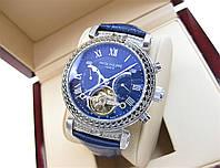 Часы Patek Philippe Grand Complications Tourbillon 41mm ref. 5008 Silver/Blue/Blue. Replica: AAA, фото 1