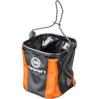 Ведро для прикормки Brain fishing EVA для набора воды мягкое без крышки ц:оранжевый/черный (1858.50.73)