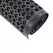 Коврик резиновый сота  90 х 150 х 1,2 см чёрный