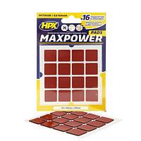 Высечка из двухсторонней ленты HPX Maxpower Outdoor - 16 подушечек, 20х20мм