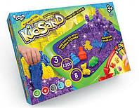 Набор креативного творчества Кинетический песок KidSand 1200 г + песочница, Danko Toys, KS-02-02U