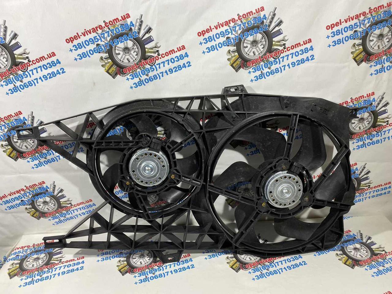 Вентилятор осн радіатора 2 піна 6 лопатей D385 / D280 7 лопатей 2.5 dci Ніссан Примастар новий 2000-2014р
