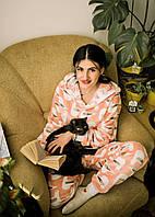 Пижама детская махровая комбинезон Чайки 140 см, фото 1