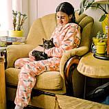 Пижама детская махровая комбинезон Чайки 134 см, фото 3