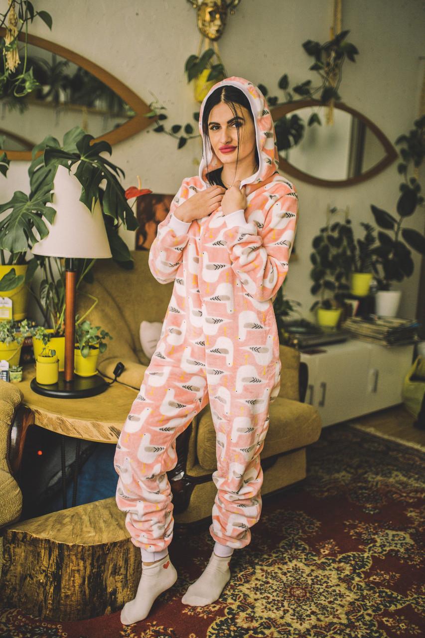 Пижама детская махровая комбинезон Чайки 134 см