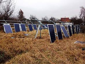 Монтаж солнечных модулей.