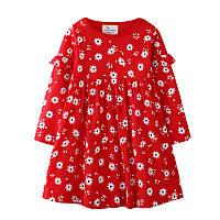 Платье для девочки Ромашки на красном. Jumping Meters