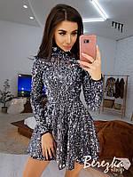 Сверкающее платье из пайеток на подкладке, фото 1