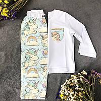 Хлопковая пижама с кофтой Единороги S, фото 1