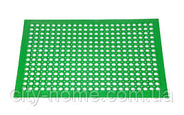 Коврик резиновый сота  90 х 150 х 1,2 см зелёный