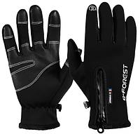 Лыжные зимние перчатки сенсорные B-FOREST на флисе +БАРХАТ неопрен