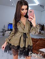 Сверкающее платье с кружевом, фото 1