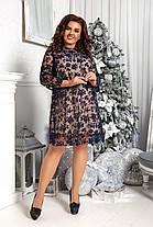 Платье  БАТАЛ ажурное в расцветках 96671, фото 3