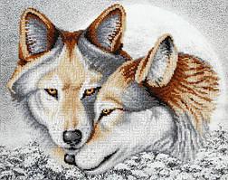 Набор для вышивки бисером Любовь навеки (Волки) ТН-0842