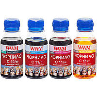 Комплект чернил WWM CANON PG510BP/CL511 B/C/M/Y (C10/11SET4-2) 4*100г