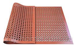 Килимок гумовий сота 90 х 150 х 1,2 см червоний.