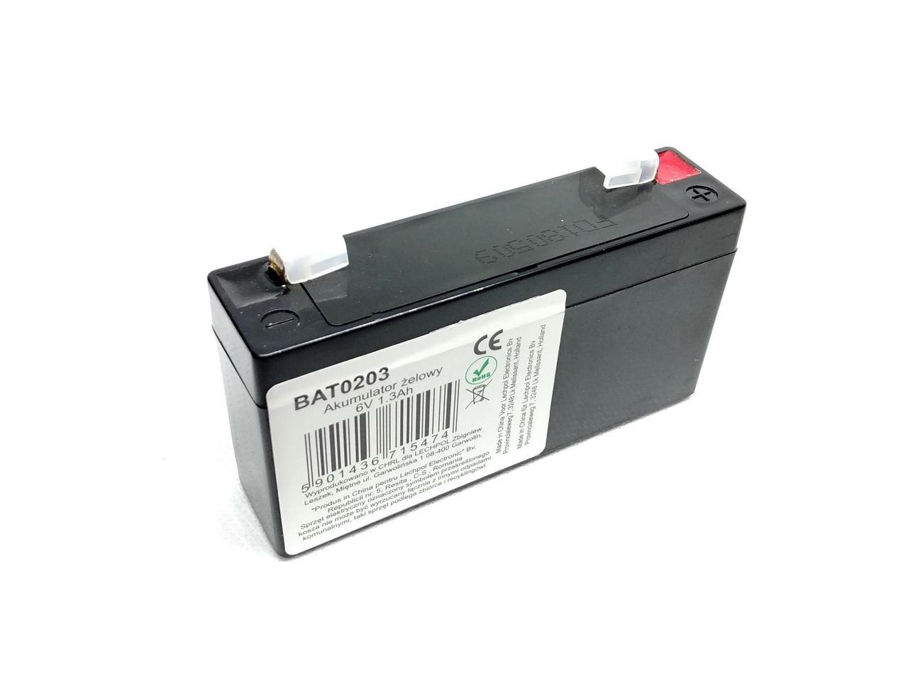 Аккумулятор 6 Вольт 1.3 ампера
