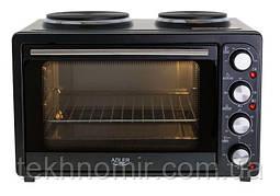 Електропіч - духовка з подвійним плитою Adler AD 6020 2500 Вт
