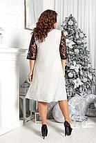 Платье шикарное  БАТАЛ в расцветках 96685, фото 3