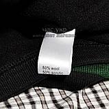 Мужской комплект набор вязаная шапка и хомут шарф Gucci черный теплый шерсть модный молодежный Гуччи реплика, фото 6