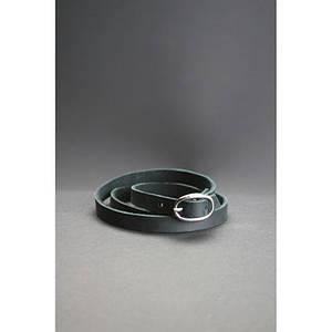 Кожаный браслет лента с пряжкой черный