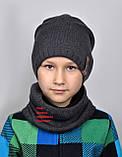 Шапка подростковая на флисе зимняя для Мальчика, фото 2