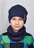 Шапка подростковая на флисе зимняя для Мальчика, фото 4
