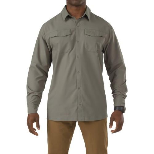 """Рубашка тактическая с длинным рукавом """"5.11 FREEDOM FLEX WOVEN SHIRT - LONG SLEEVE"""", [831] Sage Green"""