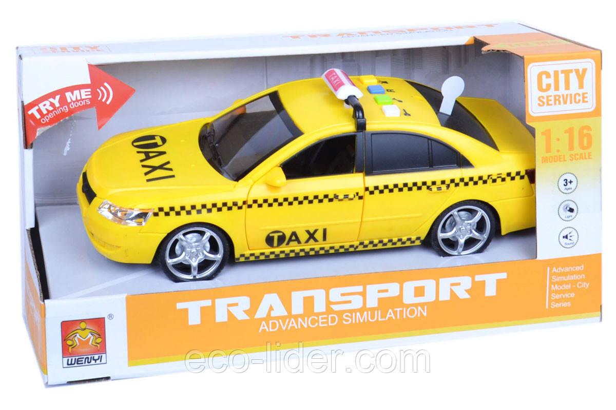 Машинка інерційна 1:16 Wenyi Таксі зі звуком і світлом