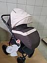 Детская коляска 2 в 1 Classik Len(Классик Лен) Victoria Gold Коричневый беж, фото 4