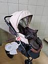 Детская коляска 2 в 1 Classik Len(Классик Лен) Victoria Gold Коричневый беж, фото 5