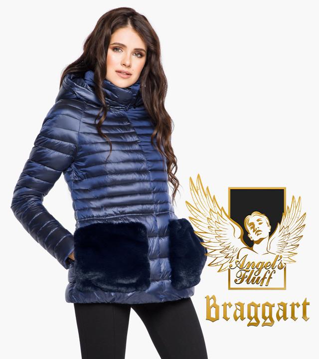 Braggart Angel's Fluff 15115 | Женский осенне-весенний воздуховик сапфировый