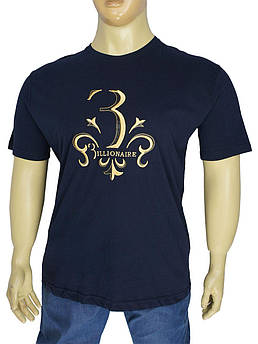 Стильна чоловіча футболка Billionaire 05 / B lacivert у великому розмірі