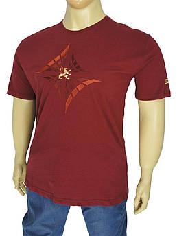 Бордова чоловіча футболка Zilli 07/В bordo в великих розмірах