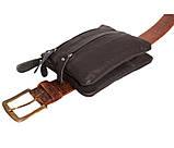 Кожаная сумка для мужчин на пояс 300152, фото 6