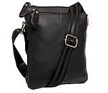 Мужская сумка компактного размера выполнена из натуральной кожи 300129, фото 2