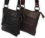 Мужская сумка из натуральной кожи через плечо 300132, фото 5