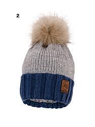 Зимняя шапка на флисе, в расцветках, Объем 50-54