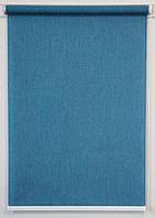 Готовые рулонные шторы Ткань Джинс Синий 1000*1500