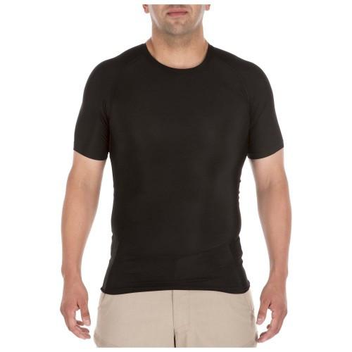 """Футболка тактическая с коротким рукавом """"5.11 Tactical Tight Crew Short Sleeve Shirt"""", [019] Black"""