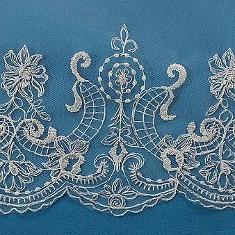 Крутая свадебная фата  машинная вышивка