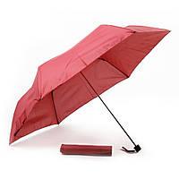 Складной зонт механический, красный, от 10 шт.
