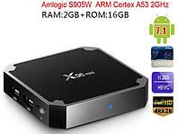 Приставка смарт тв бокс smart tv box x96 mini 4-ядерная 2Гб / 16 Гб андроид 7.1.2 черный 4K, фото 1