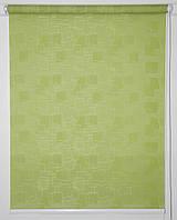Готовые рулонные шторы Ткань Топаз Салатовый 1075*1500